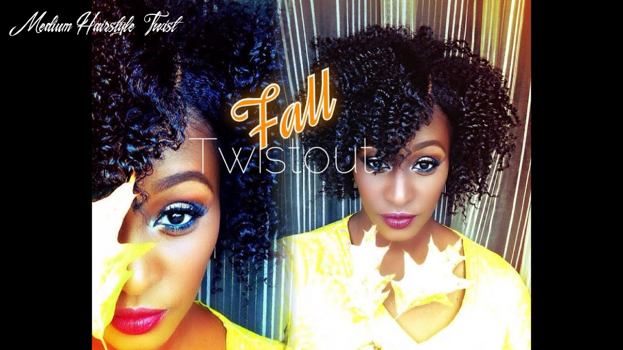 The perfect fall twist out on shortmedium length 8b natural hair |entwine couture medium hairstyle twist