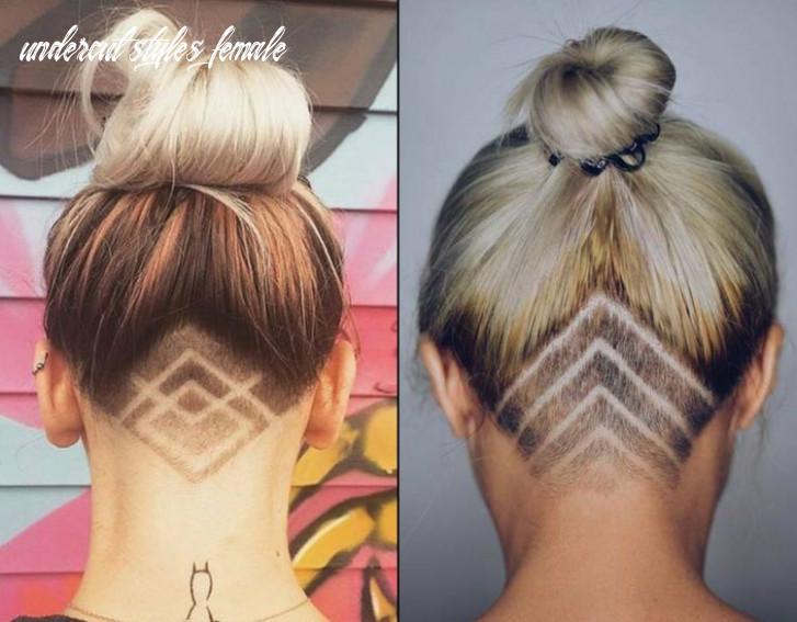 Undercut hairstyles for women – geometric, colored and glitter