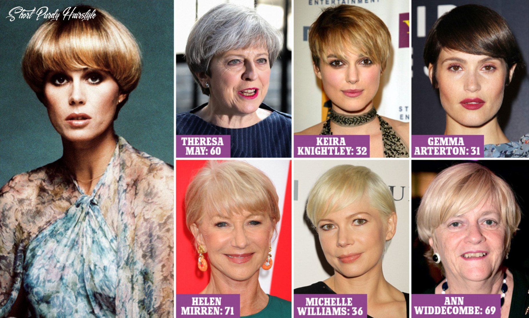 Who pulls off the purdey!   daily mail online short purdy hairstyle