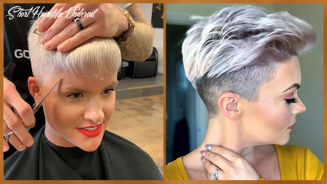Nicely shaped undercut and tomboy haircut 😍 hairstyles tutorial for short hair   hair trendy short hairstyle undercut
