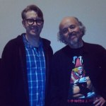 Actor Clint Howard poses next to Mike Everleth