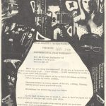 Flyer promoting experimental film workshops at the Boston Cinematheque