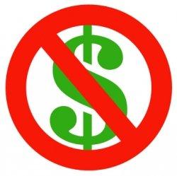 Free / No money symbol