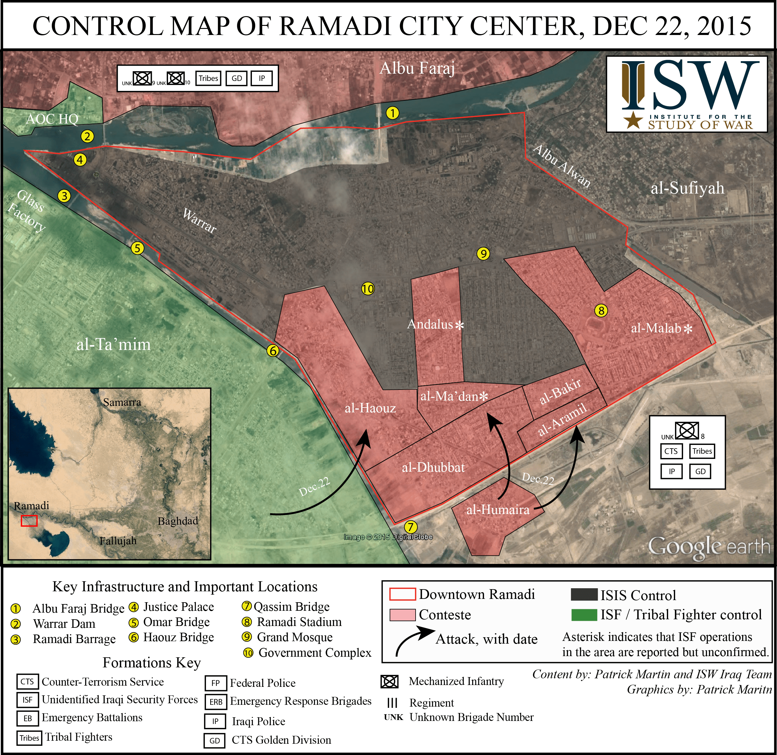 Ramadi Control Map  Nov  22  2015  Central Ramadi    Institute for     The ISF began a major operation to penetrate central Ramadi on December 22   2015  An element lead by the Counter Terrorism Service  CTS  entered Ramadi  from