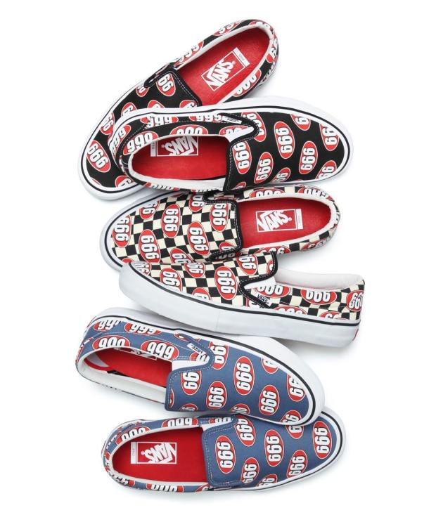 We ve seen pairs of this Supreme Slip-On with the 666 graphic pop up on  eBay a few times over the past few months 053823669