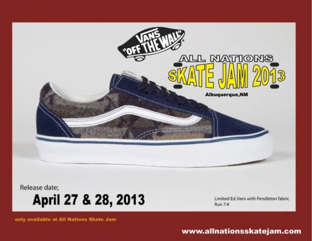 40a23fa3926b8 Vans x Pendleton x All Nations Skate Jam – Exclusive Shoes (2013)