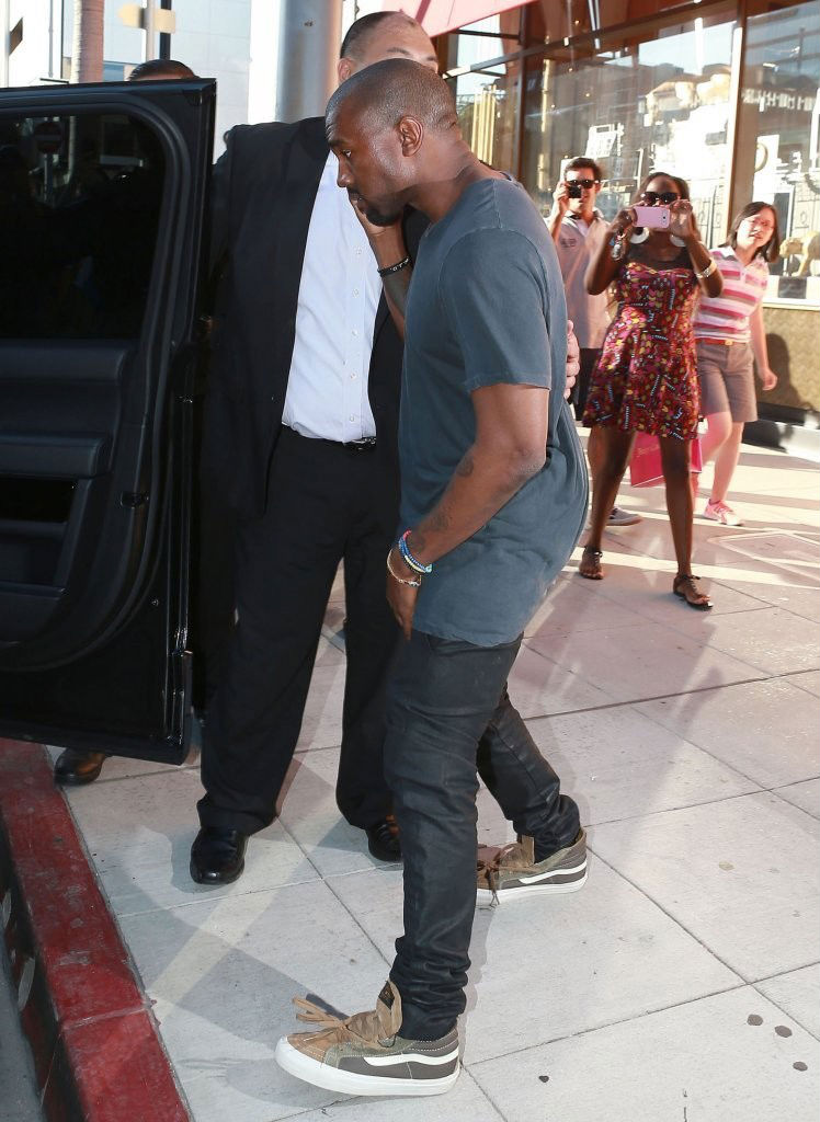 Celebs Rocking Vans Kanye West In The Vault X Wtaps
