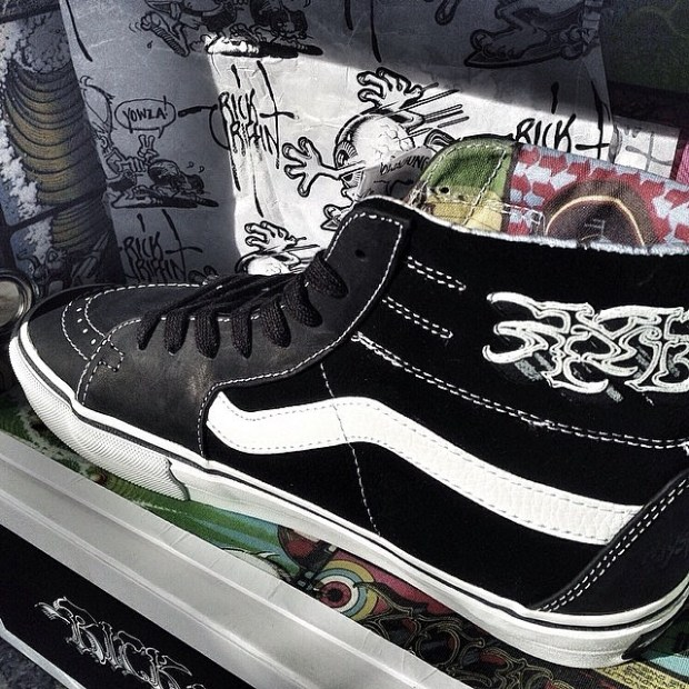 via IG! @yogiembon: Vans Vault x Rick Griffin - Sk8-Hi LX.  #underthepalms