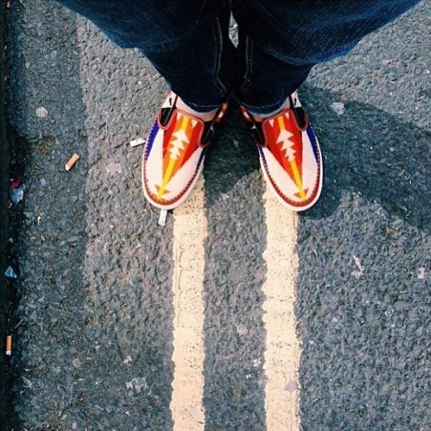 via IG! @hafsham: Vans Vault x Taka Hayashi x Pendleton - TH Slip-On LX #underthepalms