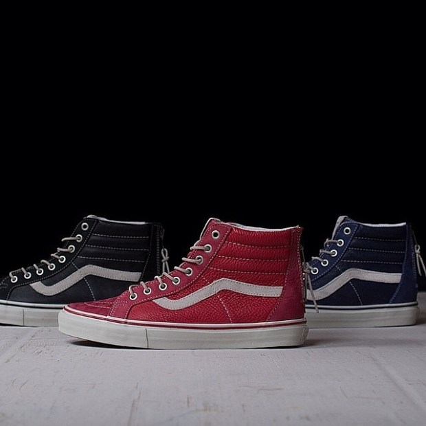 via IG! @bowsandarrowsberkeley: Vans Vault - Sk8-Hi Reissue Zip LX in stock! #underthepalms