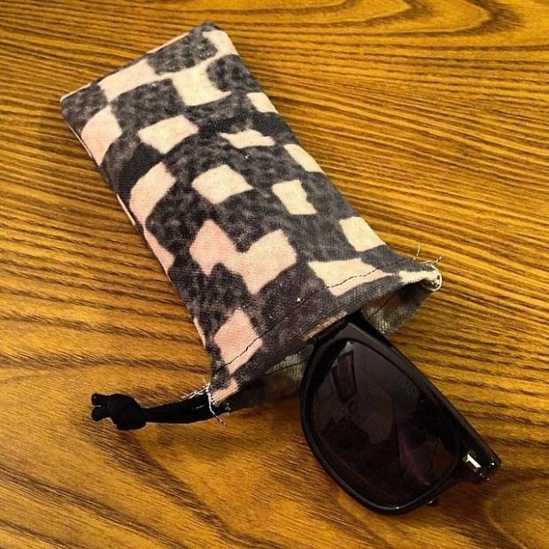via IG! Check out @slurpcult's eyeglass pouches made from old Vans canvas banners.  Dope! #underthepalms #slurpcult