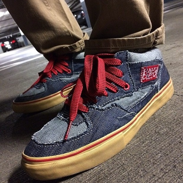 "via IG! @derrrfay: In4mation Half Cab Pro ""Houndstooth/Denim"" #underthepalms"