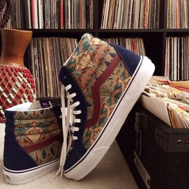via IG! My homie @luckyjackson with the Liberty Sk8-Hi Reissue's.  #underthepalms