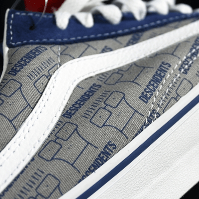 cada96eea9 At the beginning of the week we discovered that the Descendents dropped a  bomb on us. They re-issued their signature gray   blue Vans Old Skool    Authentics ...