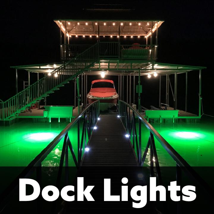 underwater dock fish lights to