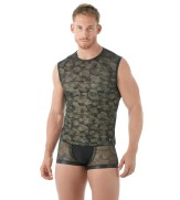 Gregg Homme Camo Muscle Shirt Front