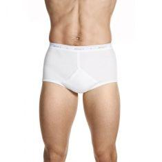 Jockey Classic Y-Front Brief 2 Pack M90002 White Mens Underwear