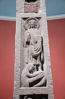 South Face Main Panel: Mary Magdalene Washing Christ's Feet: