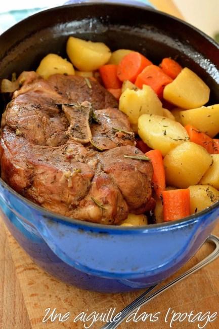 palette porc en cocotte aux carottes et pomme de terre au four