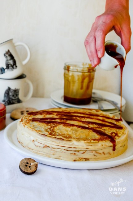 gâteau de crêpes au caramel au beurre salé