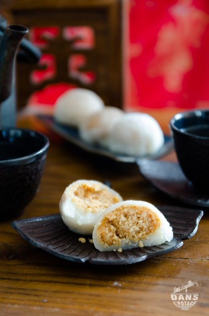 mochi cacahuète pâtisserie japonaise à la farine de riz gluant