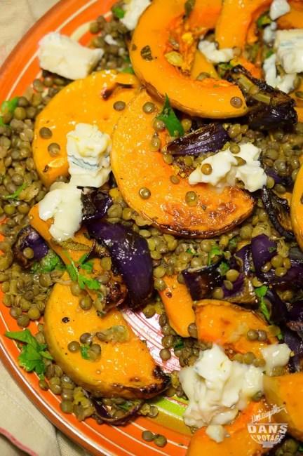 butternut lentilles gorgonzola Ottolenghi