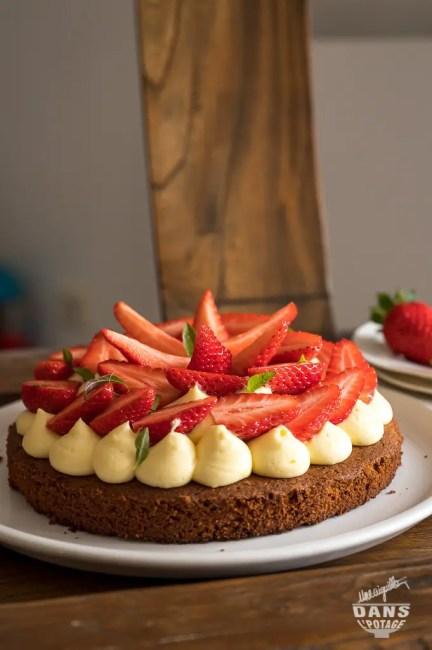 tarte fraises sablé breton crème verveine