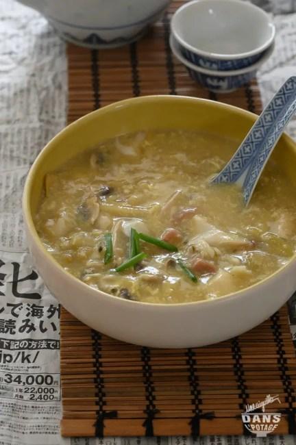 soupe chinoise au poisson de sister Song
