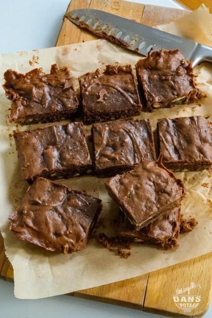brownie chocolat purée d'amande fleur de sel