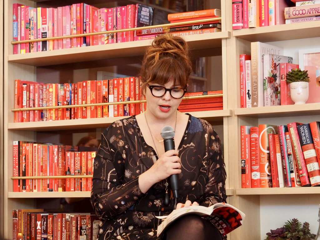 Amber Tamblyn reads from her book at The Wing Dumbo © | Nikki Vargas