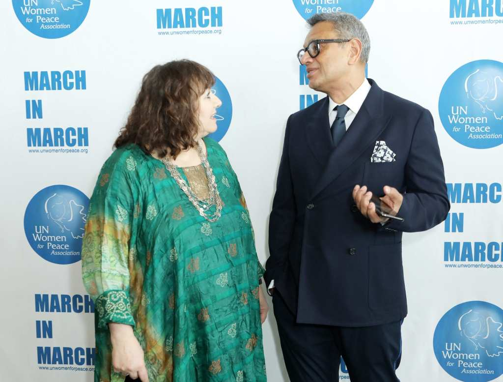 Leslee Udwin and Naeem Khan attend the UN Women For Peace Association 2019 Awards Luncheon | © Gonzalo Marroquin/Patrick McMullan via Getty Images