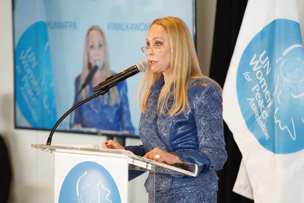 Barbara Winston speaks onstage at the UN Women For Peace Association 2019 Awards Luncheon   © Photo by Gonzalo Marroquin/Patrick McMullan via Getty Images