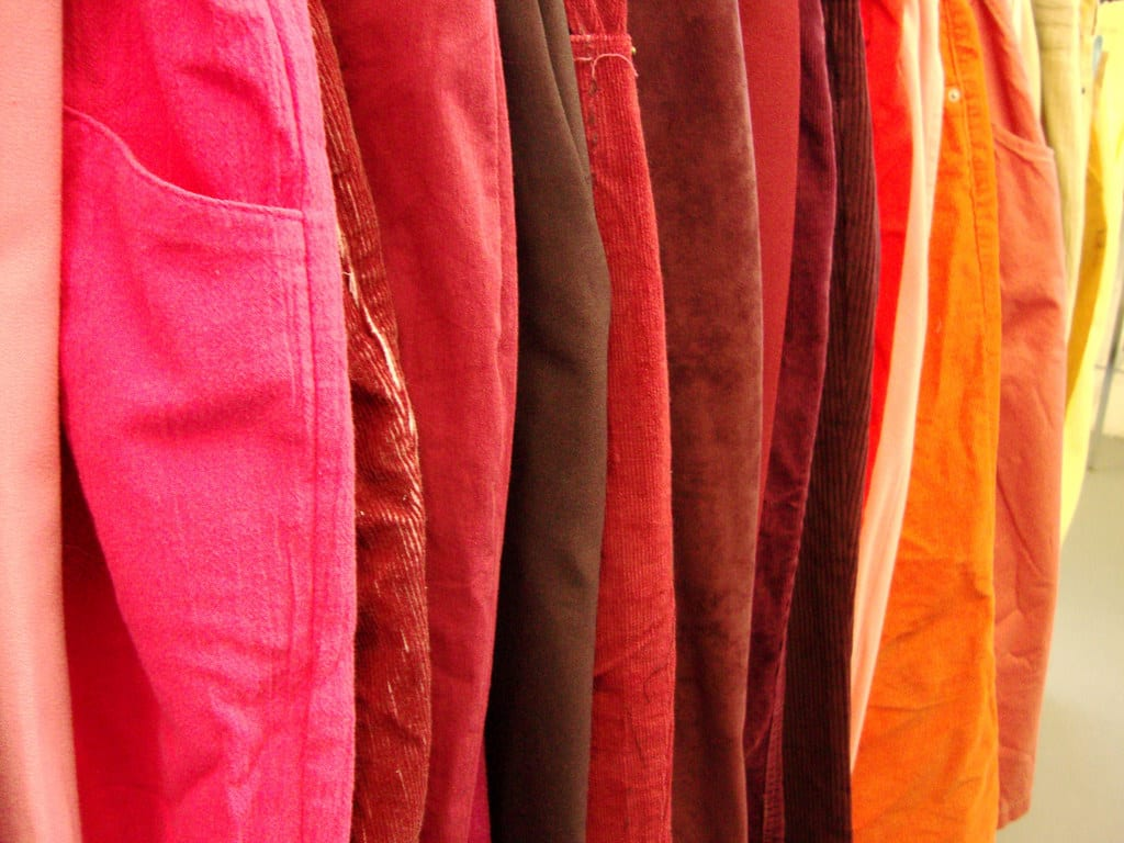 Rainbow of corduroy | ©Flickr/MrsHoffy