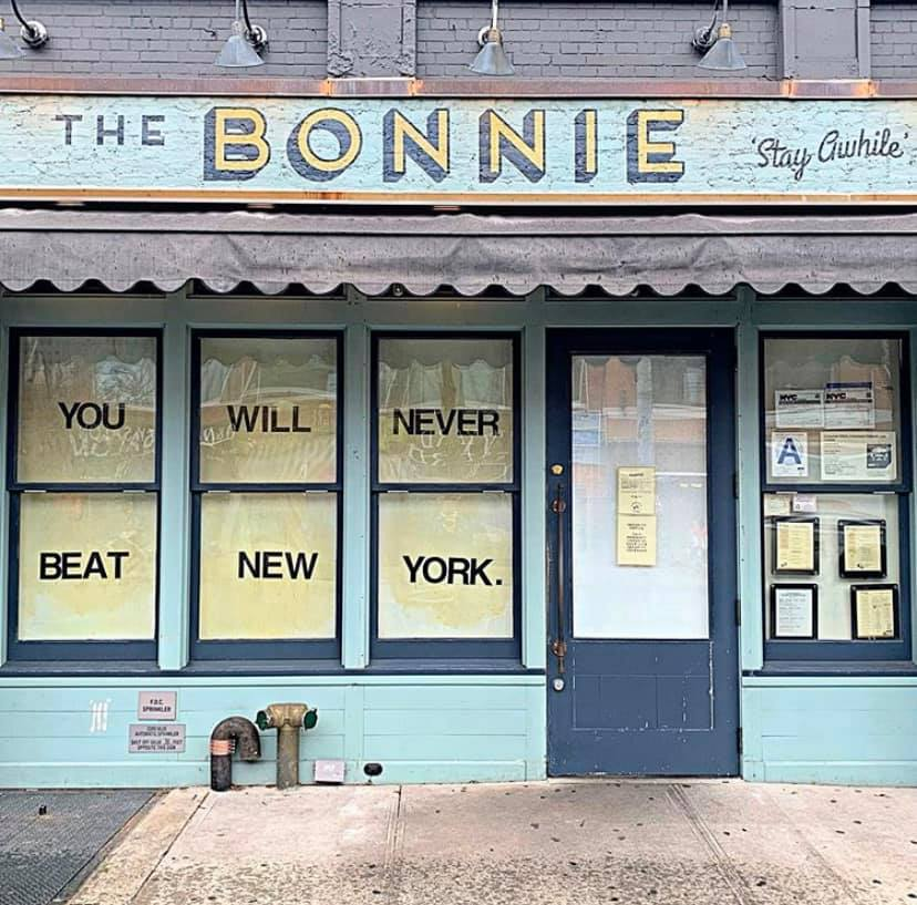 Signs outside of The Bonnie in Astoria ©   We Heart Astoria