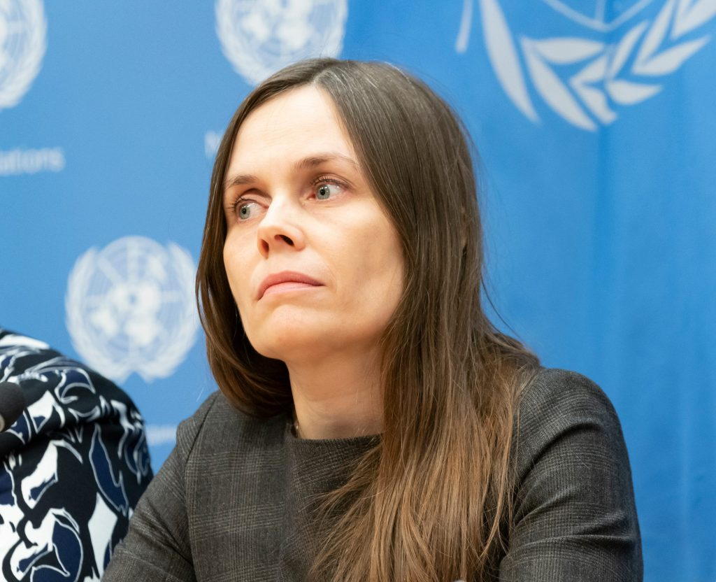 """Prime Minister of Iceland Katrin Jakobsdottir attends the 2019 """"Women in Power"""" event at the United Nations Headquarters 