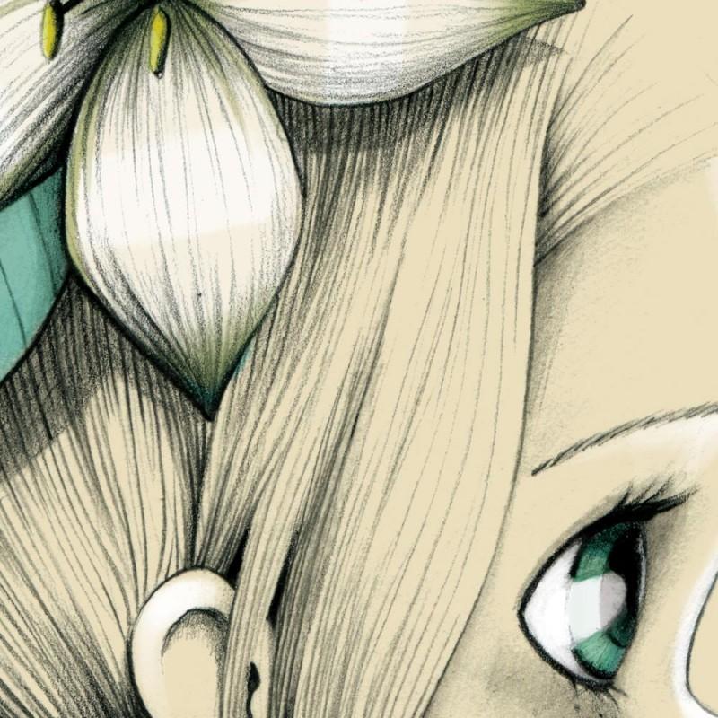 Tableau Enfant Wild Girl 05 Emmanuelle Colin