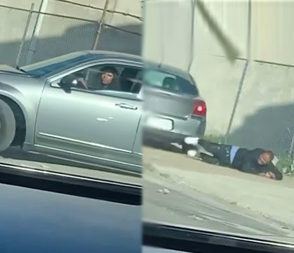 WATCH:Woman Runs Over Her Boyfriend During A Heated Argument Outside!