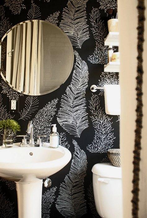 papier peint salle de bain 5