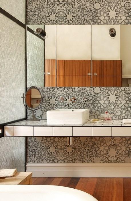 papier peint salle de bain 7