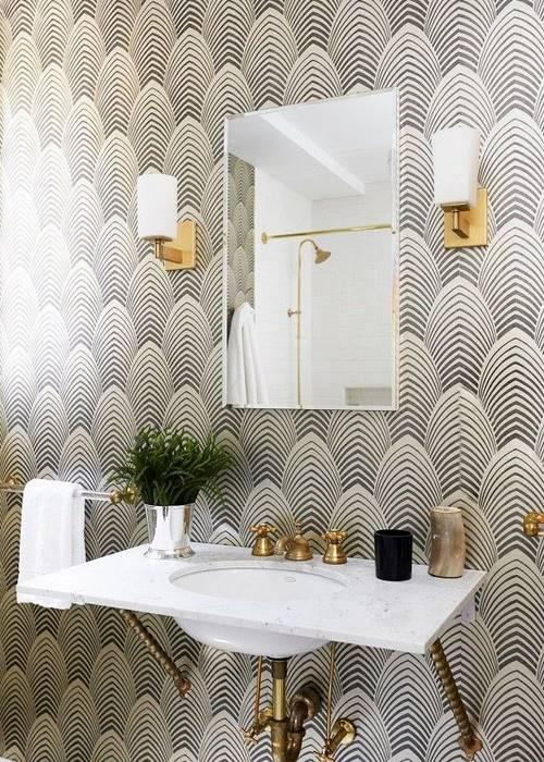 papier peint salle de bain 9