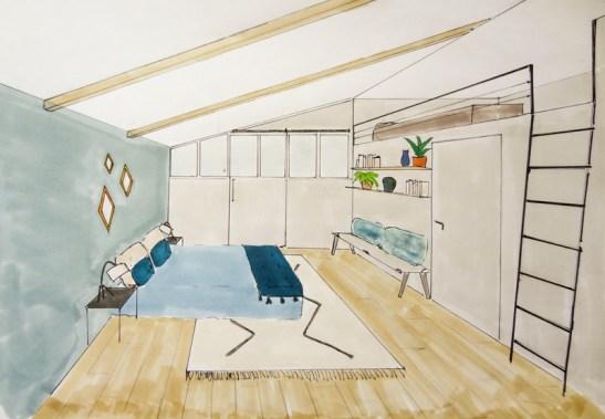 renovation chambre 4