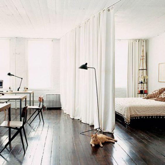 Coin chambre dans le salon 40 id es pour l 39 am nager une hirondelle da - Creer une chambre dans un studio ...