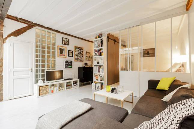 coin chambre dans salon idées aménager_3