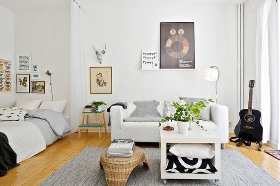 coin chambre dans salon id es am nager 31 une hirondelle dans les tiroirs. Black Bedroom Furniture Sets. Home Design Ideas