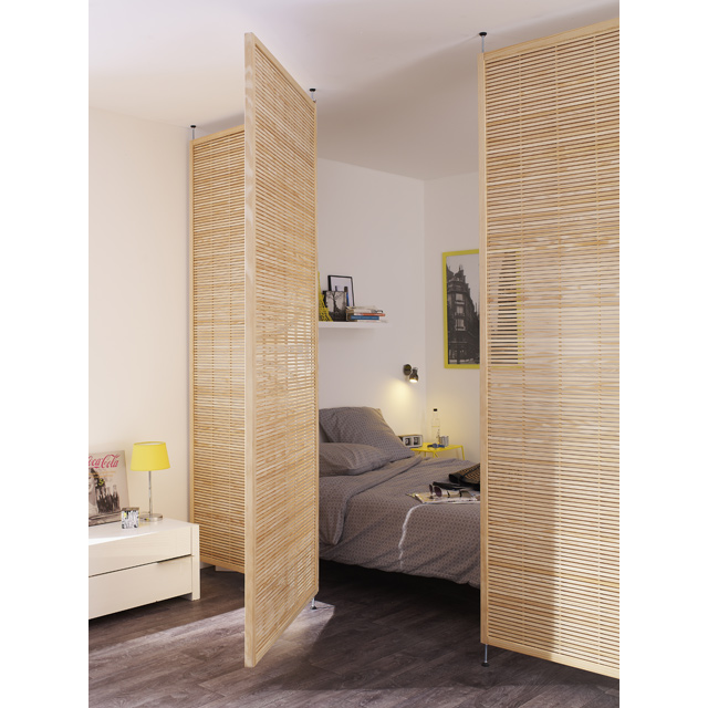 Fermer une mezzanine pour faire une chambre cool chambre - Amenager chambre dans salon ...