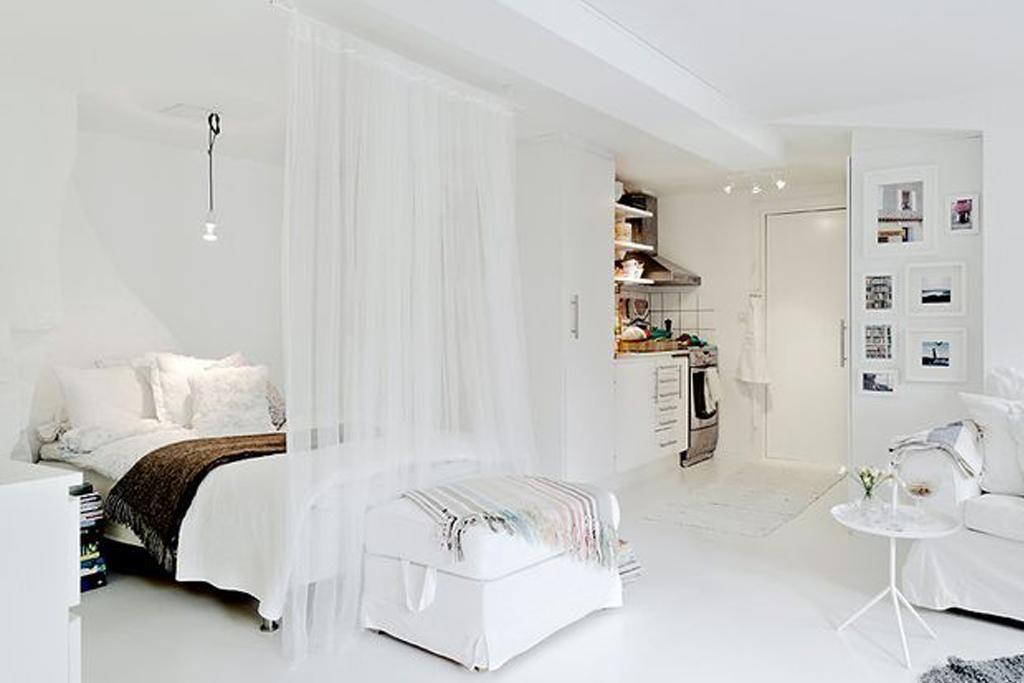 Coin chambre dans le salon 40 id es pour l 39 am nager une hirondelle dans les tiroirs for Idee separation studio