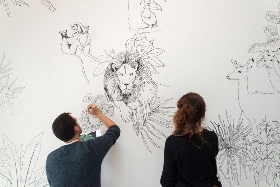 fresque murale deco 19