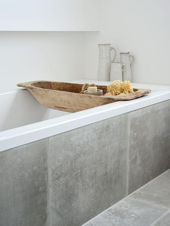 Extremement du béton ciré dans la salle de bain | Une hirondelle dans les tiroirs QN-68