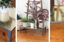 diy tag re murale avec des pieds de table ikea une hirondelle dans les tiroirs. Black Bedroom Furniture Sets. Home Design Ideas
