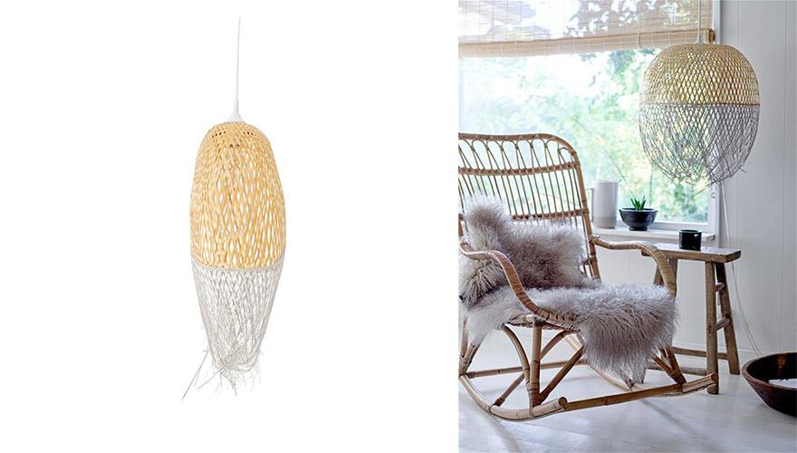 lampe tressee osier rotin bambou 10